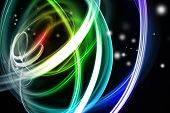 image of swirly  - Abstract swirly lines futuristic space background - JPG