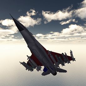 picture of fighter plane  - Computer generated 3D illustration with a Fighter Plane - JPG