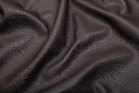 pic of blown-up  - black blown leather background texture close up - JPG