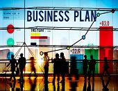 stock photo of objectives  - Business Plan Planning Strategy Success Objective Concept - JPG