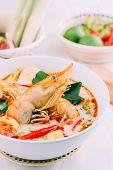 image of thai cuisine  - Tom Yum Kung and condiments  - JPG
