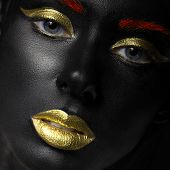 pic of dark-skin  - fashion portrait of a dark - JPG