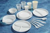 Set Of Units Of Disposable Tableware