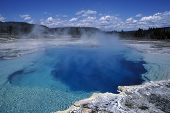 Blue Pool Of Yellowstone