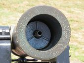 foto of battle  - Close up of an old 1863 black cannon from the battle of Fort Sumter - JPG