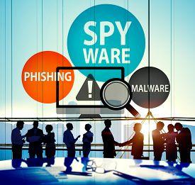 foto of spyware  - Spyware Hacking Phishing Malware Virus Concept - JPG
