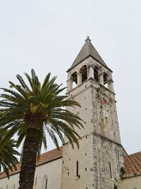 image of ascension  - The belfry of the Saint Dominic monastery and the Ascension of our Lord Jesus Christ church in the old part of the city Trogir in Croatia - JPG