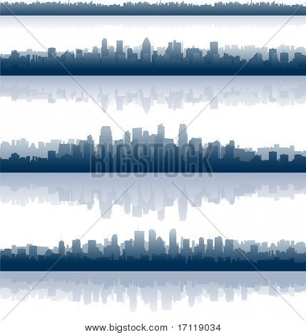 Постер, плакат: Горизонты города, холст на подрамнике
