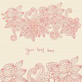 Постер, плакат: Цветочный фон в розовых цветов