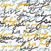 Romantische brief - naadloze patroon