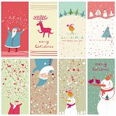 pic of christmas cards  - 8 cartoon Christmas banners - JPG