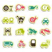 iconos de servicio de auto