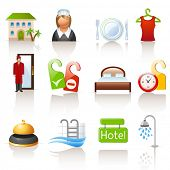 stock photo of porter  - hotel icons - JPG