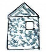 screws in shape of house