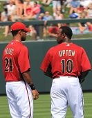 Arizona Diamondbacks Outfielders Chris Young and Juston Upton