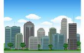 Nature city buildings