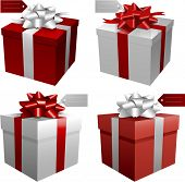 Red vector gift boxes