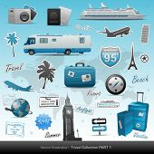image of transportation icons  - Travel icons symbol collection - JPG