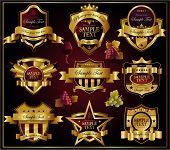 Wine golden ornate labels