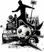 grunge urban soccer design