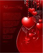 Valentine's day letter romance background