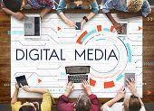 Digital Community Digital Social Media Icon poster