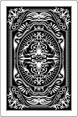 stock photo of playing card  - design of back side of playing card - JPG