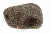 One river rock isolated on white background