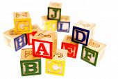 Learning blocks isolated over white