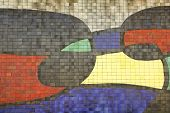 Mosaic Of Joan Miro, Detail. Barcelona