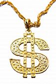 image of gangster necklace  - Dollar symbol necklace - JPG
