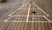 Shuffleboard Playing On A Cruise Ship 4