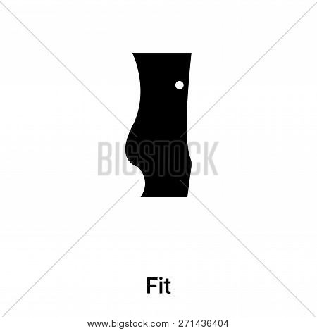poster of Fit Icon In Trendy Design Style. Fit Icon Isolated On White Background. Fit Vector Icon Simple And M