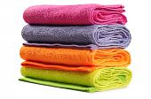 Bath towel. Isolated