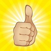 Thumb Up Gesture (also available vector version in this gallery)