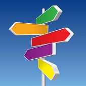 stock photo of xxl  - Directional Signs  - JPG