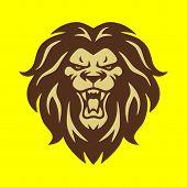 Lion Head Logo Vector, Lion King Head Sign Concept, Lions Head Logo, Lion Face Graphic Illustration, poster