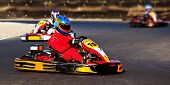 stock photo of karts  - Kart racing competition - JPG