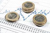 Euro oins on statistics graph