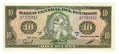 10 Sucre Bill Of Ecuador, 1988 poster