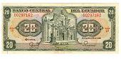 20 Sucre Bill Of Ecuador, 1988 poster