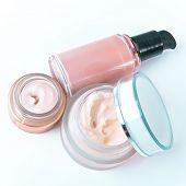 set of nourishing creams and makeup