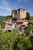 medieval castle in Tuscany, Italy