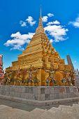Giants of Wat Phra Kaeo Temple, Bangkok landmark, Thailand