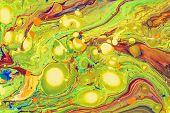 Fluid Abstract- Liquid Art Illustration. Acrylic- Paint On Canvas poster