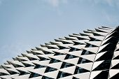 Singapore's iconic building often called the durian building due to its design. the esplanade is an