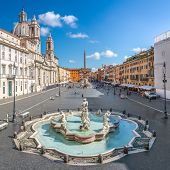Aerial View Of Navona Square, Piazza Navona In Rome, Italy. Rome Architecture And Landmark. Piazza N poster
