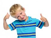 picture of cheeky  - Cheeky kid making funny expressions - JPG