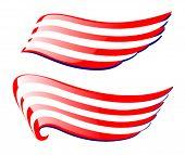 two wings like american flag