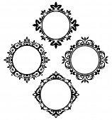 set of vintage circle frames